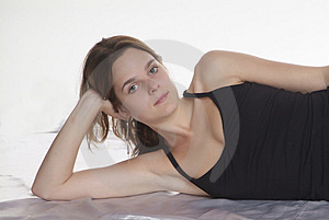 Lying Woman Stock Photos - Image: 2727793