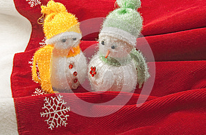 Two Little Snowmen Royalty Free Stock Image - Image: 27209236