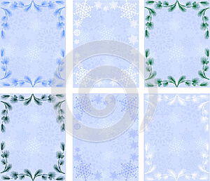 Winter Backgrounds.snowflakes.pine Branches Stock Photography - Image: 27219512
