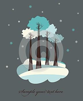 Winter Trees. Royalty Free Stock Image - Image: 27222946