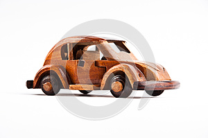 Retro Wooden Car Model Stock Images - Image: 27223774