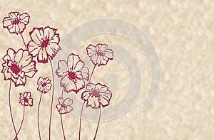 Stylized Maroon Flowers Stock Photos - Image: 27224163