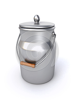 Milk Can Royalty Free Stock Photo - Image: 27228055