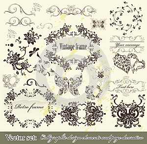 Calligraphic Design Elements And Page Decoration Royalty Free Stock Photo - Image: 27229395