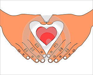 Hand With Love Heart Icon Royalty Free Stock Photos - Image: 27243398