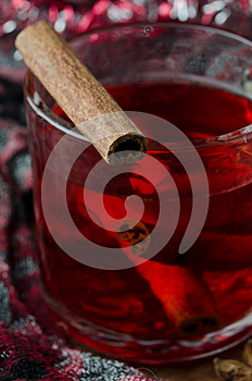 Mulled Wine With Cinnamon Royalty Free Stock Photography - Image: 27253227