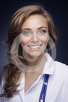 Young Doctor Woman With Stethoscope Royalty Free Stock Photos - Image: 27267608