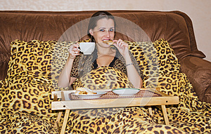 Breakfast In Bed Royalty Free Stock Photo - Image: 27269435