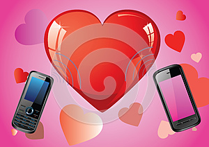Love Mobile Royalty Free Stock Photo - Image: 27282965