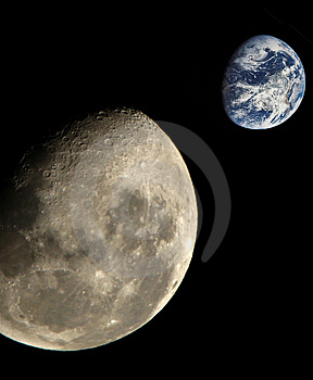 Moon & Earth Stock Images