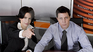 Business man and woman Free Stock Photo