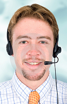 Customer service representativ Stock Photos
