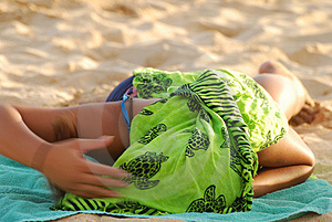Covered Sun Tan Royalty Free Stock Photos - Image: 2739418