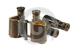 Two Old Binoculars Stock Images - Image: 27311884