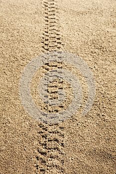 Tire Tracks In Sand Royalty Free Stock Photos - Image: 27324918