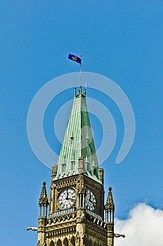 Generaals Van De Gouverneur Markeren Op De Toren Ottawa Van De Vrede Stock Afbeeldingen - Afbeelding: 27392604