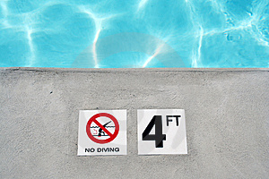 Swimming Pool Depth Marker Stock Images - Image: 2747234
