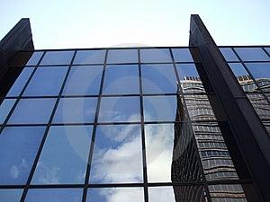 Pale Blue Sky Above Building Stock Image