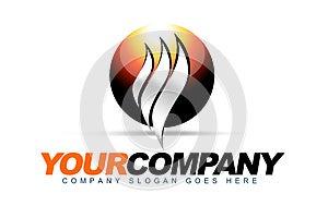 Logotipo Do Calor Da Esfera Imagem de Stock Royalty Free - Imagem: 27438436