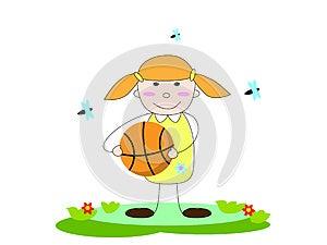 Girl With Ball Stock Photos - Image: 27443123