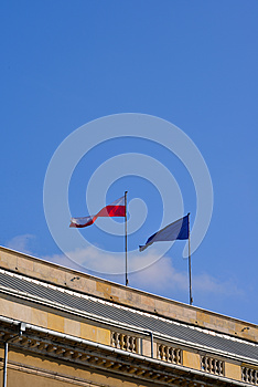 标志-波兰和欧盟 图库摄影 - 图片: 27445102