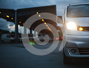 The Gray Car Costs At Shopping Center Stock Image - Image: 27492141