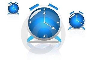 The blue clock Royalty Free Stock Image