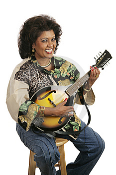 Woman Playing Mandolin Stock Photography - Image: 2751302