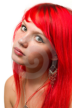 Pretty model portrait isolated Royalty Free Stock Photos