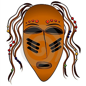 Ancient Tribal Face Mask Stock Photography - Image: 2759922