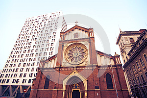 Wide View Of Saint Joseph Cathedral Royalty Free Stock Images - Image: 27527589