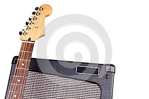 Guitar Headstock & Amplifier Royalty Free Stock Image - Image: 27547676