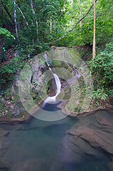 Djup Skogvattenfall I Thailand Arkivbild - Bild: 27567652