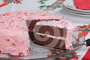 Dienende Plak Van Cake Stock Foto - Afbeelding: 27588260