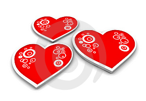 Three Hearts Royalty Free Stock Images - Image: 2762079