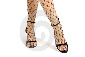 Long Legs In Bodystocking Royalty Free Stock Photo - Image: 2762785