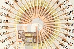 Fifty Euro Money Circle Royalty Free Stock Photography - Image: 2763207