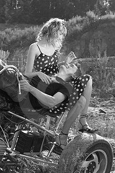 Couple Having Fun Outdoors Stock Photo - Image: 2764960