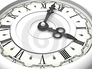 Clock. Three o'clock Stock Photo