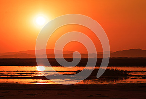 Sunset Over Marsh Royalty Free Stock Images - Image: 27614899