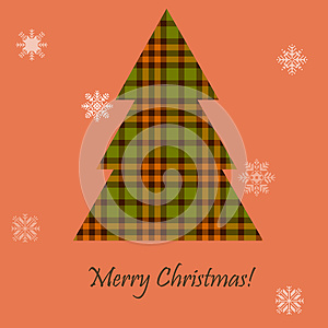 Card With A Scottish Tree Royalty Free Stock Photography - Image: 27635127