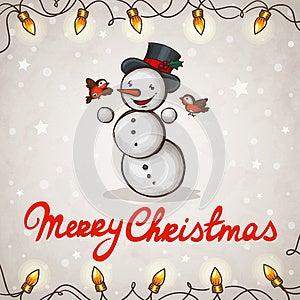 Snowman Greeting Card Royalty Free Stock Photo - Image: 27640005