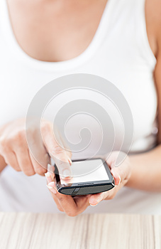 Indian Girl With Mobile Smart Phone Royalty Free Stock Image - Image: 27688256