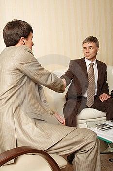 Handshake1 Stock Afbeeldingen