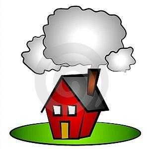 House Chimney Smoke Clip Art Royalty Free Stock Photo