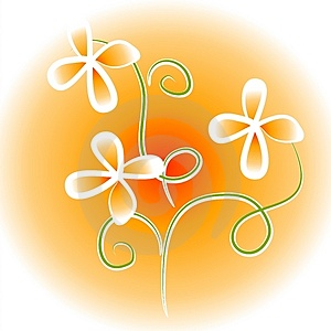 Unique Flowers Clip Art Orange Royalty Free Stock Images