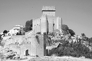 Artistic Alarcón Castle, Spain Stock Image - Image: 2776521
