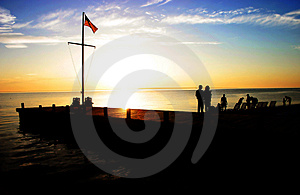 Coastal Silhouette At Sunset Stock Images - Image: 2776554