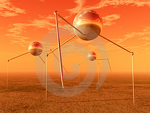 Alien Ball Tripods Royalty Free Stock Image - Image: 2778376