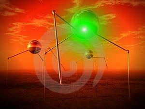 Alien Ball Tripods Royalty Free Stock Photos - Image: 2778428